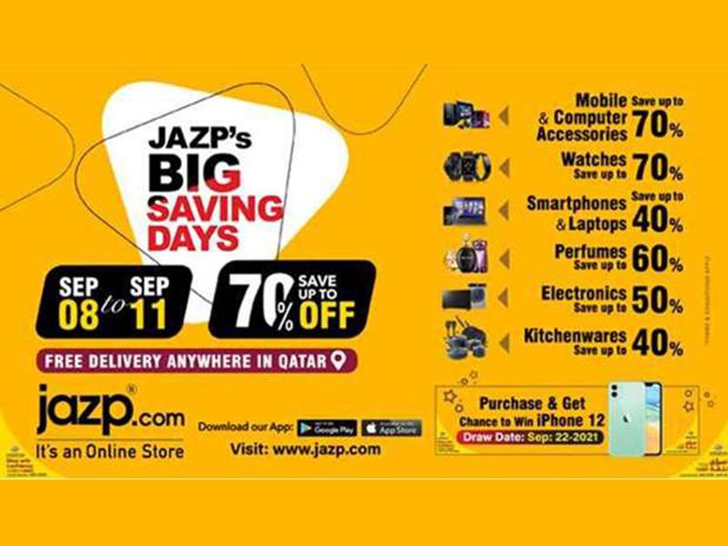 Get geared for Jazp.com's Big Saving Days